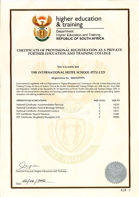 bureau of educator certification registrations and accreditations international hotel