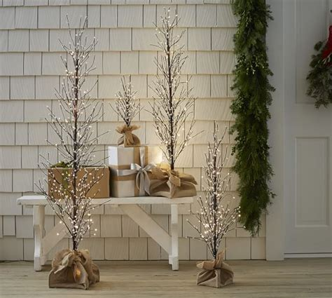 Pottery Barn Trees by Faux Lit Berry Tree Pottery Barn