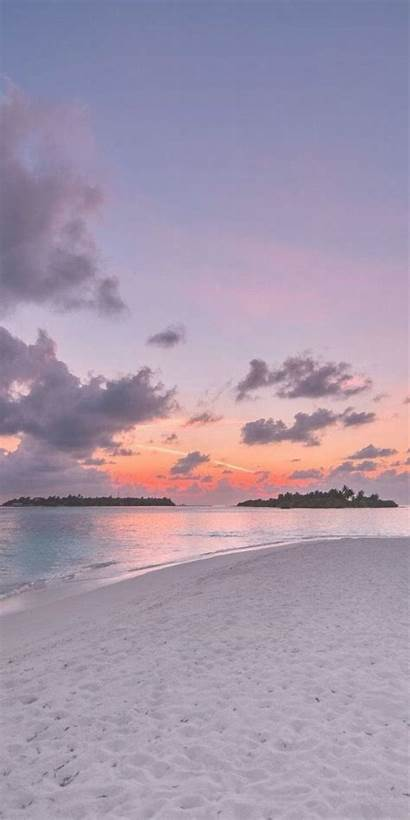 Sunset Wallpapers Backgrounds Aesthetic Girly Ocean Sky