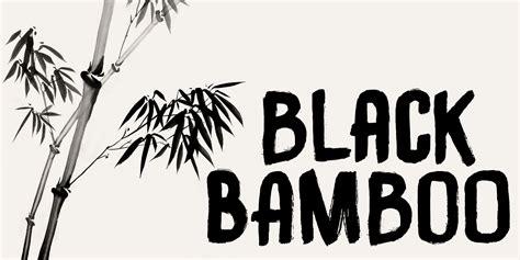 fontspring black bamboo font  hanoded