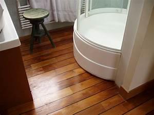 parquet teck With sol en teck salle de bain