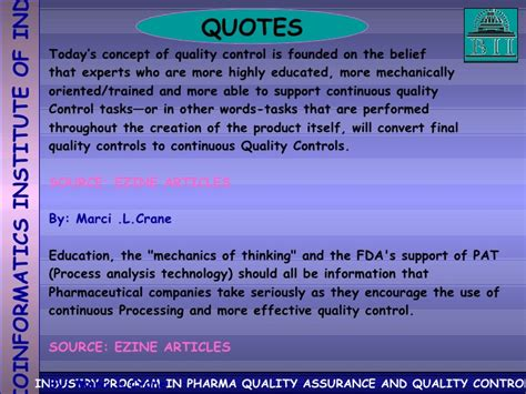 Industry Program In Pharma Quality Assurance And Quality ...