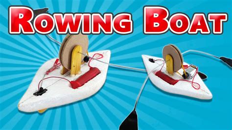 Electric Toy Boat Videos by How To Make A Toy Rowing Boat Electric Boat Youtube