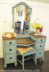 Before After Antique Vanity Recette Patines