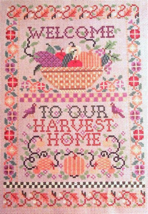 welcome to our harvest home sler counted cross stitch kit ebay