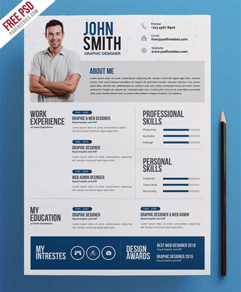 Free Creative Resume by Creative Resume Cv Psd Template Psdfreebies
