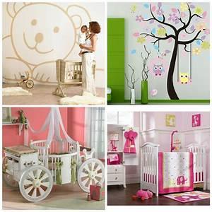 decoration chambre bebe fille 99 idees photos et astuces With chambre bébé design avec faire livrer des fleur