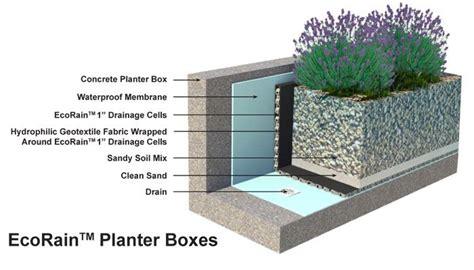 waterproofing concrete planters 17 best images about planter detailing on los