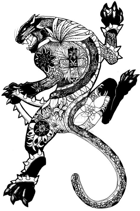 jaguar clipart felino pantera maori desenho para costa panther tattoo by
