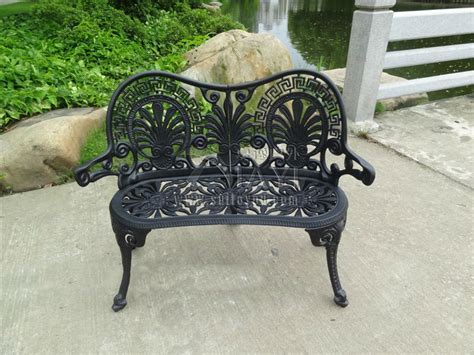 2 person durable luxury cast aluminum leisure garden bench