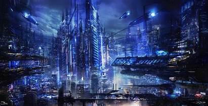 Futuristic Cyberpunk Background Desktop Future Wallpapers Cities