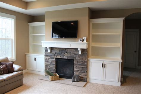 Built In Bookcase Around Fireplace hammers and high heels feature project and brian s