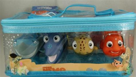 new disney store finding nemo 5 pc bath toys set bruce