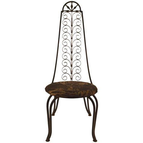 stylish wrought iron chair after umanoff for sale at 1stdibs