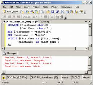 SQL Server - Le... Sql Variables Quotes