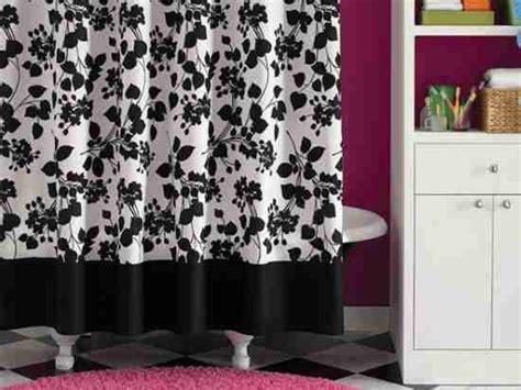 black  white floral shower curtain decor ideasdecor ideas