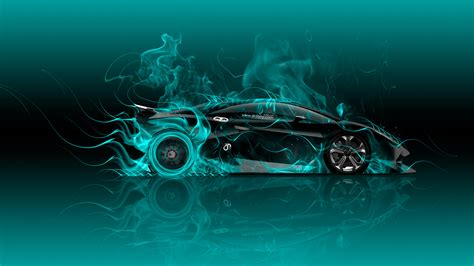 lamborghini sesto elemento side fire car  wallpapers