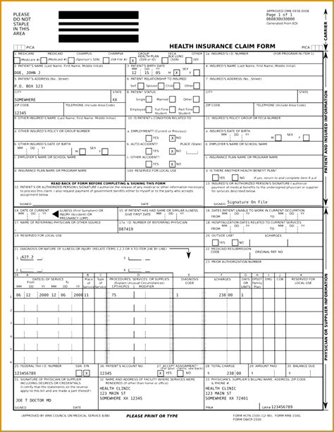 how to fill out a ub 04 claim form 6 ub 04 form template fabtemplatez