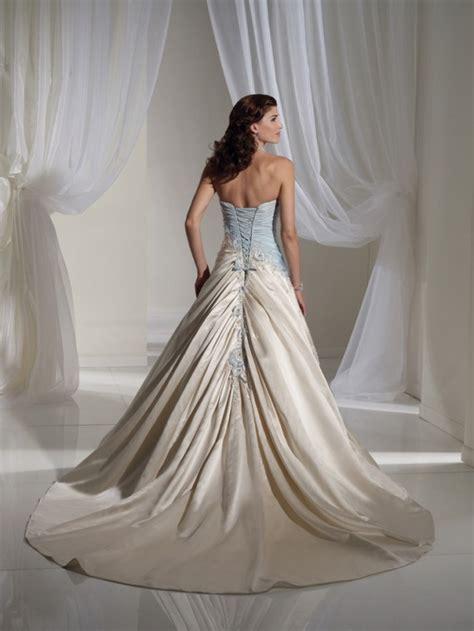 wedding dresses light blue light blue and white combination wedding dress by