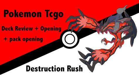 pokemon tcgo destruction rush theme deck review pack