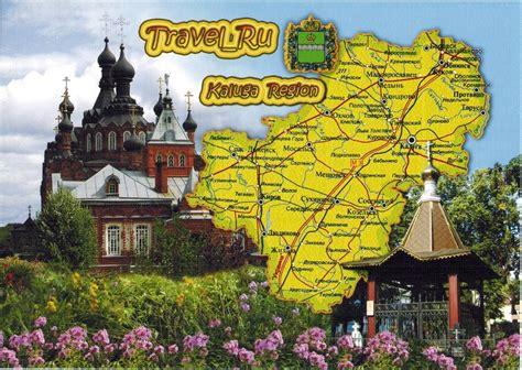 map cards hunting  russia kaluga region