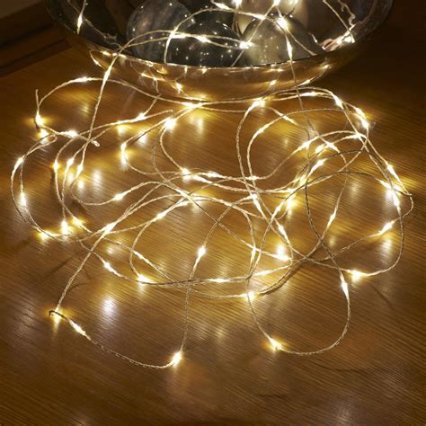 micro led string lights battery operated remote controlled outdoor 5m auraglow led
