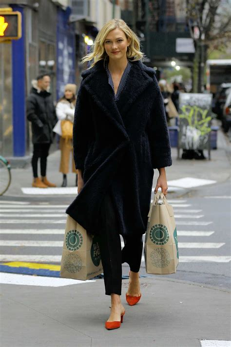 Karlie Kloss Walks Home Carrying Two Bags Groceries