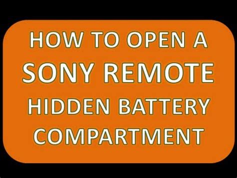 open  sony remote instructions  changing