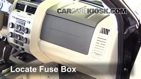 interior fuse box location   ford escape