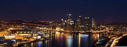 Pittsburgh Skyline Dual Desktop Wallpapers Downtown 4k