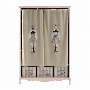 Dressing Maison Du Monde : dressing en bois rose l 130 cm paris mode maisons du monde ~ Teatrodelosmanantiales.com Idées de Décoration