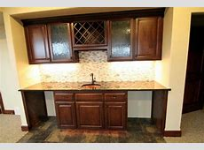 Wet Bar with Natural Stone Backsplash – Jobelius Floor