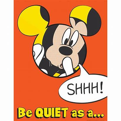 Quiet Mickey Mouse Poster Classroom Disney Clipart
