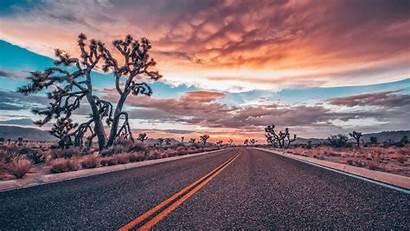 Desert Road Sunset Roads Backiee Wallpapers