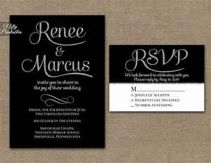 black wedding invitations printable black sliver With elegant sparkly wedding invitations