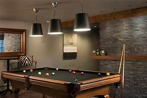 Basement Pool Room - Transitional - den/library/office