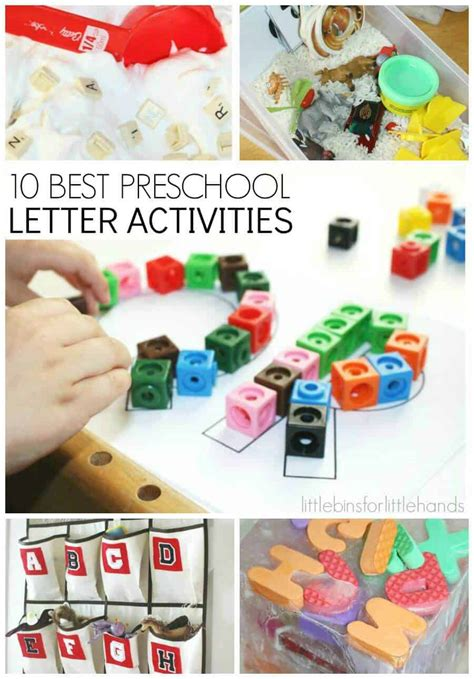letter activities  early learning preschool literacy