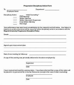 disciplinary action form 20 free word pdf documents With progressive discipline template