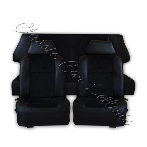 siege 4l ensemble garnitures de sièges complet tissu côtelé noir