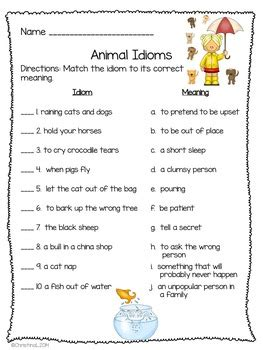 idioms worksheets  booklet   classroom