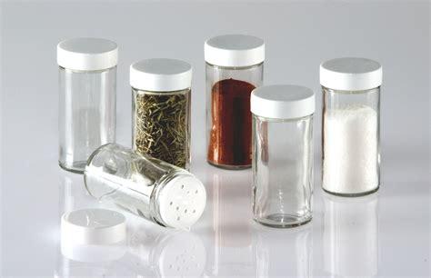 Glass Spice Bottles by New Glass Spice Jars Set Of Six Glass Spice Bottles Ebay