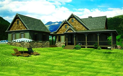 Mountain House Plan With Loft, Walkout Basement And