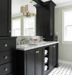 bathroom vanity countertop ideas black bathroom vanity cabinets design in transitional bathroom interior applied granite