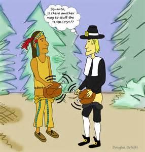 Funny Cartoon Turkey Stuffing
