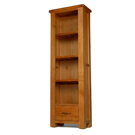 Narrow Bookcase by Solid Oak Furniture Narrow Bookcase With Drawer Ebay