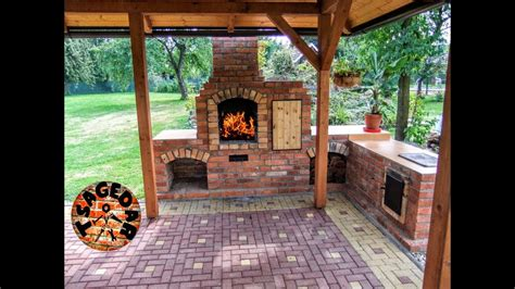 Diy Building Outdoor Fireplace With Smoker And Grill & Bbq