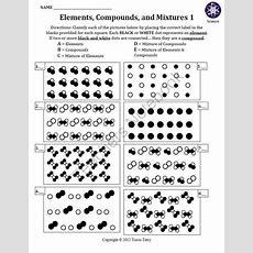 Elements Compounds And Mixtures Worksheet Homeschooldressagecom