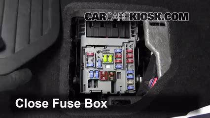 interior fuse box location   cadillac srx