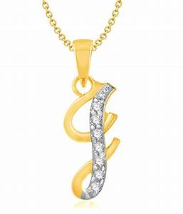 vk jewels alphabet collection initial pendant letter j With letter j pendant gold