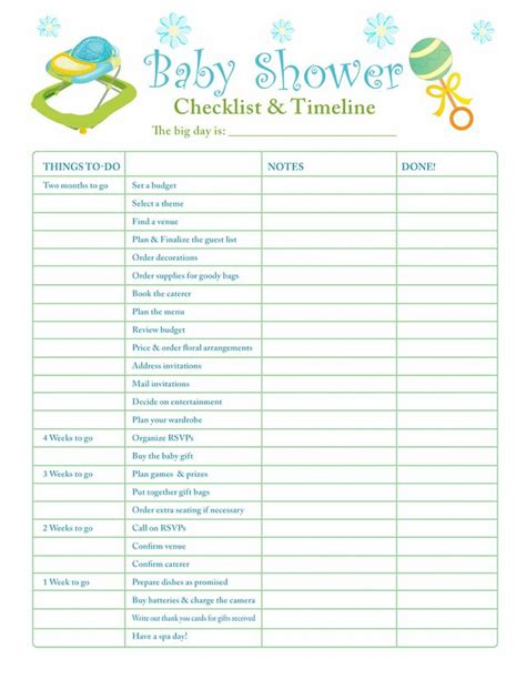 Printable Baby Shower Planner Template 8 Free Pdf Baby Shower Planner Template Planner Template Free